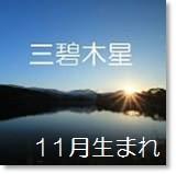 三碧木星 11月生まれ 月命:五黄