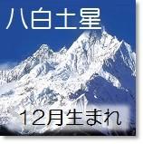 八白土星 12月生まれ