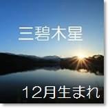 三碧木星 12月生まれ月命:四緑木星