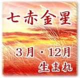 七赤金星 3月・12月生まれ 特殊傾斜
