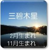 三碧木星 2月生まれ 11月生まれ
