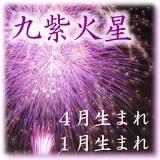 九紫火星1月4月生まれ坤宮傾斜
