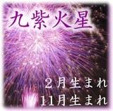 九紫火星2月・11月生まれ 離宮傾斜
