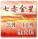 七赤金星2月・11月生まれ 巽宮傾斜