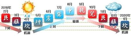 五黄土星運勢グラフ バイオリズム