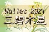 三碧木星 2021 ラッキーカラー アイテム 財布